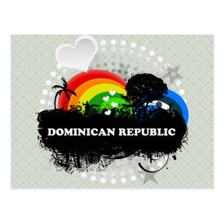 かわいくフルーツのようなドミニカ共和国 ポストカード