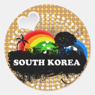 かわいくフルーツのような南朝鮮 ラウンドシール