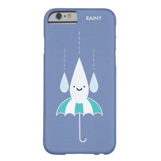 かわいくミニマルな雨の日のiPhone 6/6sの場合 Barely There iPhone 6 ケース