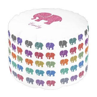 かわいくモダンで粋でガーリーで多彩な象 プーフ