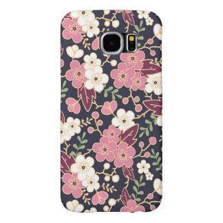 かわいくモダンな春の花模様のガーリーな花柄 SAMSUNG GALAXY S6 ケース