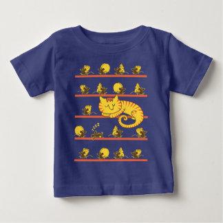 かわいく不精な猫及びチーズ窃盗のネズミ ベビーTシャツ