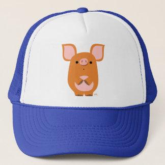 かわいく内気な漫画のブタの帽子 キャップ