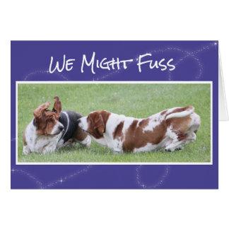 かわいく及びおもしろいな記念日カードw/Basset猟犬 カード