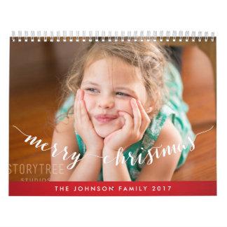 かわいく名前入りなカレンダー2017年のメリークリスマス カレンダー