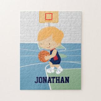かわいく名前入りなバスケットボール選手のブロンドの女性海軍 ジグソーパズル