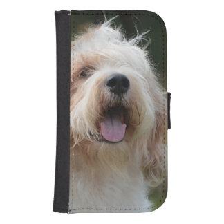 かわいく壮大なバセット犬 ウォレットケース