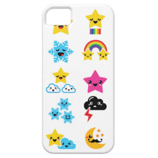 かわいく多彩なかわいいの天候アイコン電話箱 iPhone SE/5/5s ケース