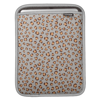 かわいく多彩なオレンジ茶色のチータのプリントのモノグラム iPadスリーブ