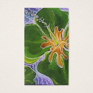 かわいく多彩なハイビスカスの花の名刺 名刺