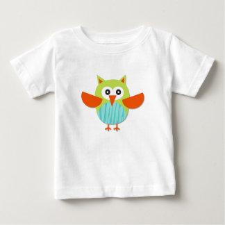 かわいく多彩な漫画のフクロウ ベビーTシャツ