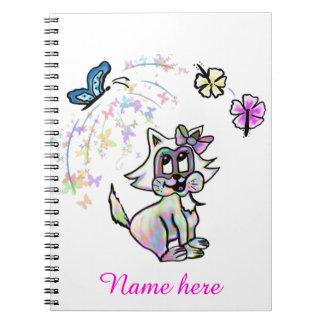 かわいく多彩な赤ん坊猫 ノートブック