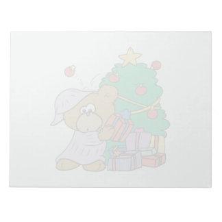 かわいく好奇心が強いクリスマスくま ノートパッド