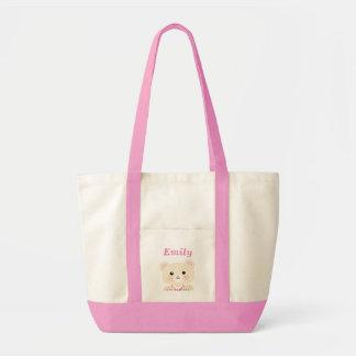 かわいく小さいくまの女の子のベビーのバッグ トートバッグ