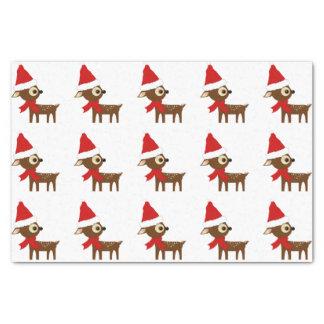かわいく小さいクリスマスのトナカイパターン 薄葉紙