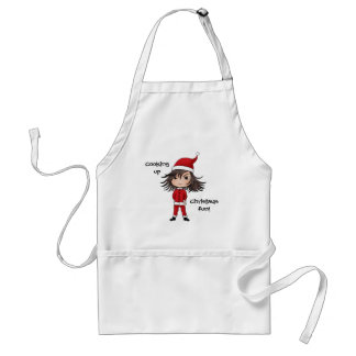 かわいく小さいクリスマスの小妖精や小人のチビ(小さくかわいく書いた感じ) スタンダードエプロン