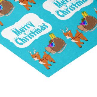 かわいく小さいトナカイのクリスマスのティッシュペーパー 薄葉紙