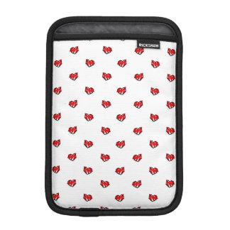 かわいく小さいバレンタインのハート iPad MINIスリーブ
