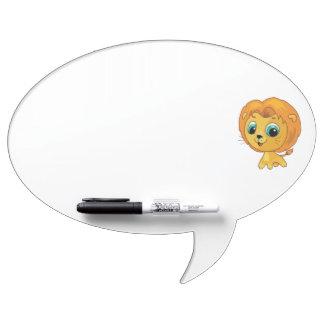 かわいく小さいライオンの漫画の絵 ホワイトボード