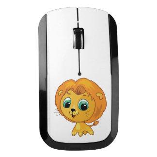 かわいく小さいライオンの漫画の絵 ワイヤレスマウス