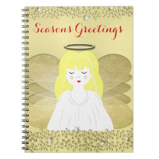 かわいく小さい天使のフェスティバルおよびきらめくデザイン ノートブック