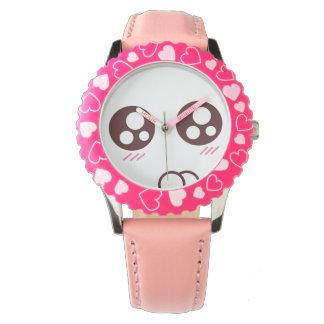 かわいく小さい子猫のかわいいのemoji 腕時計