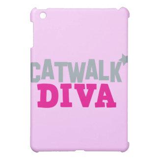 かわいく小さい星を持つキャットウォークの花型女性歌手 iPad MINIカバー