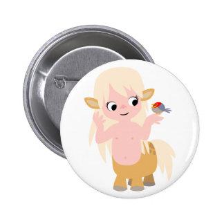 かわいく小さい漫画のCentauressボタンのバッジ 5.7cm 丸型バッジ