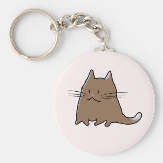 かわいく小さい脂肪質猫 キーホルダー