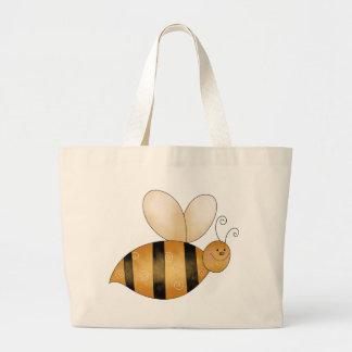 かわいく小さい蜂 ラージトートバッグ
