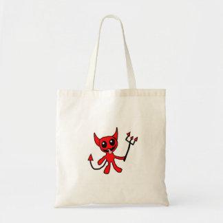 かわいく小さい赤い悪魔 トートバッグ