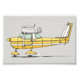 かわいく小さい飛行機 フォトプリント