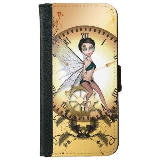 かわいく小さいsteampunkの妖精 iPhone 6/6s ウォレットケース