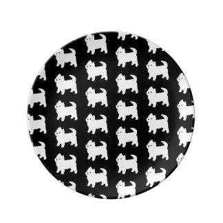 かわいく小さいWestie -ウエスト・ハイランド・ホワイト・テリア 磁器プレート