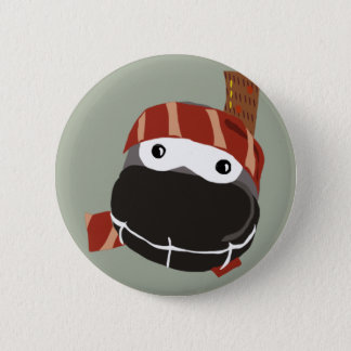 かわいく小さく幸せな忍者ボタン 5.7CM 丸型バッジ