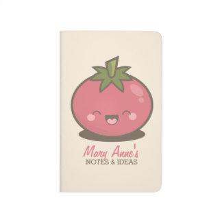 かわいく幸せなかわいいのトマトのノート及びアイディア ポケットジャーナル