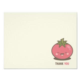 かわいく幸せなかわいいのトマトは感謝していしています 10.8 X 14 インビテーションカード