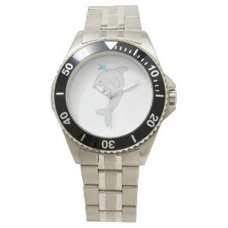 かわいく幸せなイルカ 腕時計