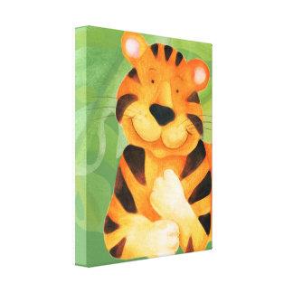 かわいく幸せなトラのキャンバスの覆いのプリント キャンバスプリント