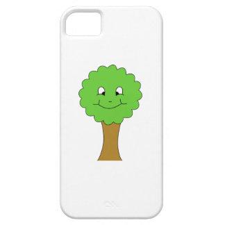 かわいく幸せな緑の木。 白 iPhone SE/5/5s ケース