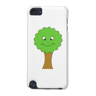 かわいく幸せな緑の木。 白 iPod TOUCH 5G ケース