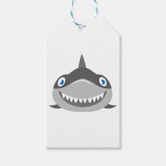 かわいく幸せな鮫の顔 ギフトタグ