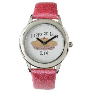 かわいく幸せなPi日! 腕時計