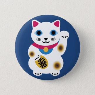 かわいく幸運な猫Pin 5.7cm 丸型バッジ