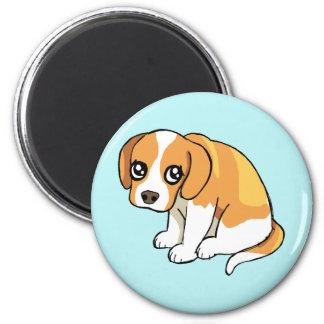 かわいく悲しいブラウンのビーグル犬の小犬のスケッチの磁石 マグネット