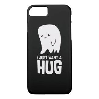 かわいく悲しい幽霊はちょうど抱擁がほしいと思います iPhone 8/7ケース