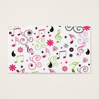 かわいく愛らしくにこやかな音楽は花に注意します 名刺
