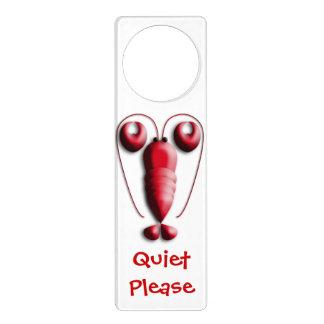 かわいく愛らしく赤いロブスターのハート形の挟み ドアノブプレート