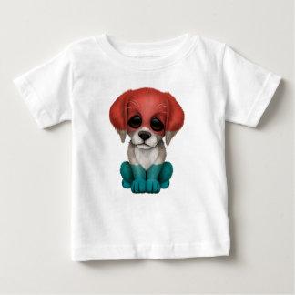 かわいく愛国心が強いルクセンブルクは小犬に印を付けます ベビーTシャツ