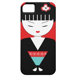 かわいく日本のな芸者女の子のiPhone 5/5Sの場合 iPhone SE/5/5s ケース